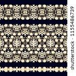 seamless vector floral border... | Shutterstock .eps vector #1155486739
