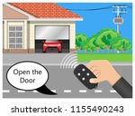 garage door remote control... | Shutterstock .eps vector #1155490243