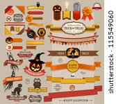 set of halloween retro ribbons  ... | Shutterstock .eps vector #115549060