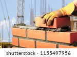 bricklayer industrial worker... | Shutterstock . vector #1155497956