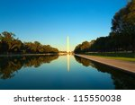 Washington Monument In Front O...
