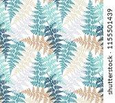 fern frond herbs  tropical... | Shutterstock .eps vector #1155501439