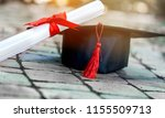 graduation hat and medical...   Shutterstock . vector #1155509713