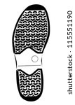 boot trace on white background  ... | Shutterstock .eps vector #115551190