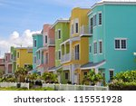 colorful beach condominiums for ... | Shutterstock . vector #115551928