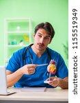 doctor student explaining heart ...   Shutterstock . vector #1155519349