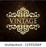 vintage background | Shutterstock .eps vector #115552069