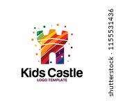 colorful castle logo | Shutterstock .eps vector #1155531436