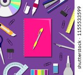 flat lay vector illustration...   Shutterstock .eps vector #1155533599
