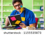 young doctor sitting in...   Shutterstock . vector #1155535873