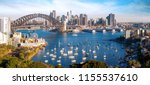 panorama of sydney city ... | Shutterstock . vector #1155537610