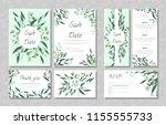 eucalyptus design. wedding... | Shutterstock .eps vector #1155555733