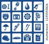 car service vector icon set   Shutterstock .eps vector #1155555826