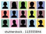man and woman avatars | Shutterstock . vector #115555846