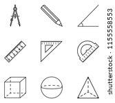 vector set of black outline...   Shutterstock .eps vector #1155558553