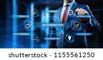 automation software technology... | Shutterstock . vector #1155561250
