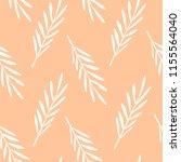 white leaves on peach seamless...   Shutterstock .eps vector #1155564040
