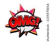 pop art speech omg white...   Shutterstock .eps vector #1155570016