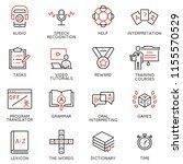 vector set of linear icons... | Shutterstock .eps vector #1155570529