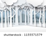 snow and winter season forest... | Shutterstock .eps vector #1155571579