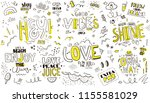 pattern with slogans for tee... | Shutterstock .eps vector #1155581029