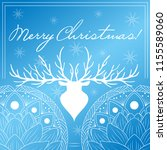 merry christmas  greeting card. ... | Shutterstock .eps vector #1155589060