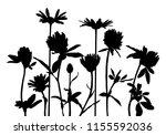 vector silhouettes of wild...   Shutterstock .eps vector #1155592036