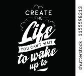 inspirational quote  motivation.... | Shutterstock .eps vector #1155598213