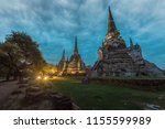 The ancient temples in Ayutthaya, Thailand, indicate the greatness of Ayutthaya Kingdom that prospered over 668 years ago.