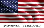 usa flag painted on material   Shutterstock . vector #1155600460