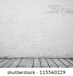 high resolution white brick room | Shutterstock . vector #115560229