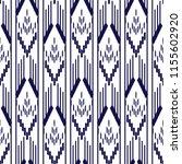 ikat seamless pattern design.... | Shutterstock .eps vector #1155602920