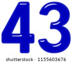 numeral 43  forty three ... | Shutterstock . vector #1155603676