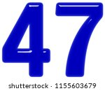 numeral 47  forty seven ... | Shutterstock . vector #1155603679