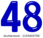 numeral 48  forty eight ... | Shutterstock . vector #1155603700