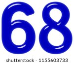 numeral 68  sixty eight ... | Shutterstock . vector #1155603733