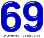 numeral 69  sixty nine ... | Shutterstock . vector #1155603736