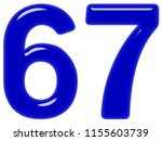 numeral 67  sixty seven ... | Shutterstock . vector #1155603739