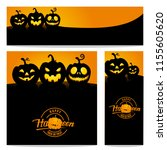 happy halloween vector ... | Shutterstock .eps vector #1155605620