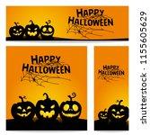 happy halloween vector ... | Shutterstock .eps vector #1155605629