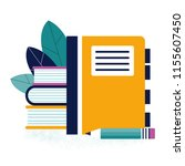 notebook with bookmarks  a... | Shutterstock .eps vector #1155607450