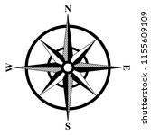 basic compass rose | Shutterstock .eps vector #1155609109