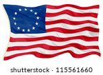 early american flag | Shutterstock . vector #115561660