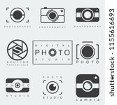 photography icon set.... | Shutterstock . vector #1155616693
