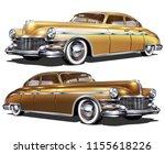 retro car isolated on white... | Shutterstock .eps vector #1155618226