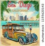 San Diego California Retro...