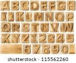 wooden alphabet blocks with...