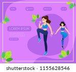 sport vector illustration with... | Shutterstock .eps vector #1155628546