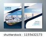 annual report brochure flyer...   Shutterstock .eps vector #1155632173