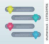 business infographics template... | Shutterstock .eps vector #1155634906